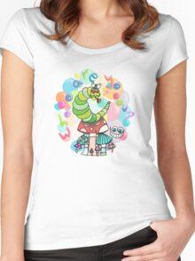 Caterpillar - Alice's Adventures in Wonderland Women's Fitted Scoop T-Shirt
