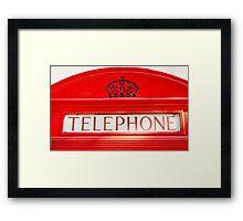BT Telephone booth Framed Print