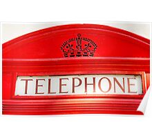 BT Telephone booth Poster