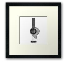 Acoustic Guitar  parts Framed Print