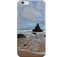 White Clouds above Sango Bay iPhone Case/Skin