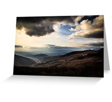 cloudy sky on italian mountains Greeting Card