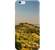 Sunset in the italian countryside iPhone Case/Skin