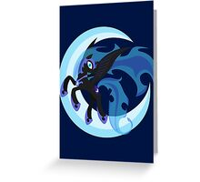 Nightmare Moon Minimalistic Greeting Card