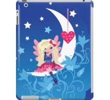 Cute love fairy with heart on the moon iPad Case/Skin