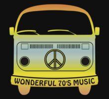 Wonderful 70's Music Kids Tee