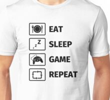 Eat Sleep Game Repeat Unisex T-Shirt