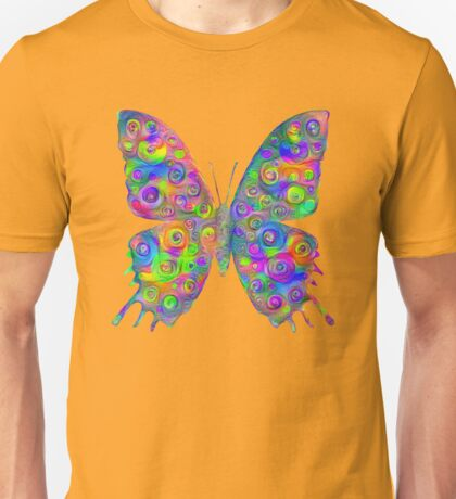 #DeepDream Motley Butterfly Unisex T-Shirt