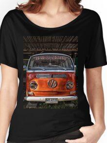 HDR Orange Volkswagen mini van Women's Relaxed Fit T-Shirt