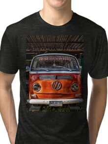 HDR Orange Volkswagen mini van Tri-blend T-Shirt