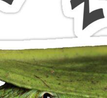 Silly Cute Cool Adorable Fun Sleepy Green Anole Lizard  Sticker