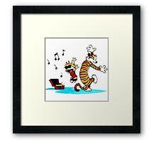 Calvin and Hobbes Dance Framed Print