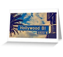Hollywood road sign Greeting Card