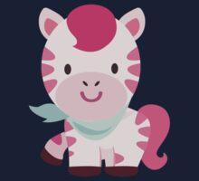 Cute Pink Zebra Design Baby Tee