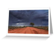 The Red Continent.... Greeting Card
