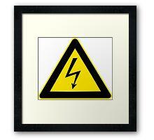 High Voltage Symbol Framed Print