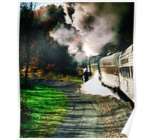 Taking Autumn by Train  Poster
