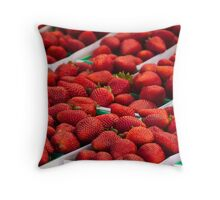 Strawberries! Loads of them Throw Pillow