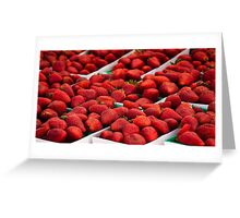 Strawberries! Loads of them Greeting Card