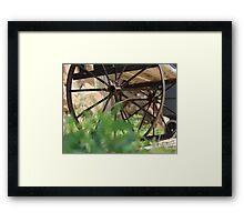 Wagon Wheels End Framed Print