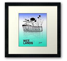 Wetlands (Colored for LG, original lines for Bladensburg State Park) Framed Print
