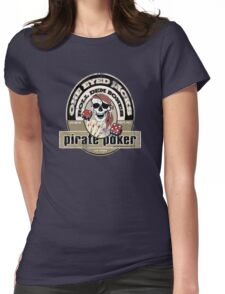 pirate poker Womens Fitted T-Shirt