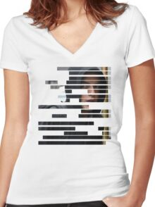 Elliot Alderson - Mr Robot Women's Fitted V-Neck T-Shirt