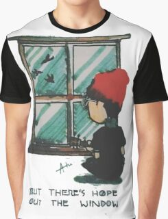 There's Hope Out the Window Graphic T-Shirt