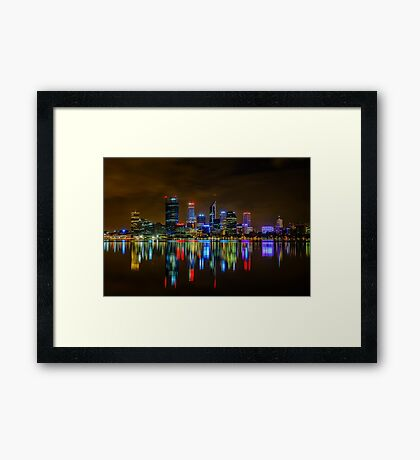 Perth At Night Framed Print