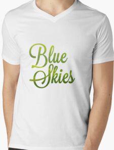 Blue Skies Mens V-Neck T-Shirt