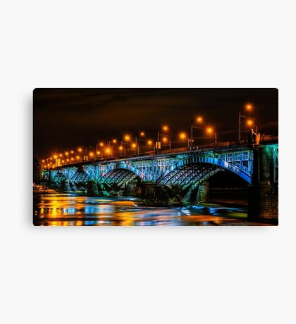 Poniatowski Bridge Canvas Print