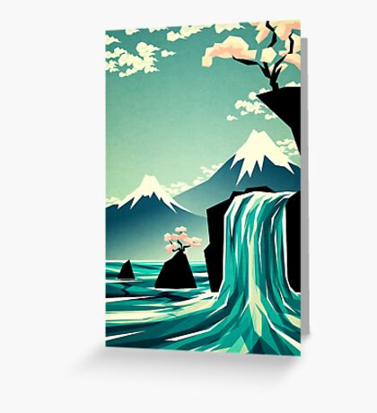 Waterfall blossom dream Greeting Card