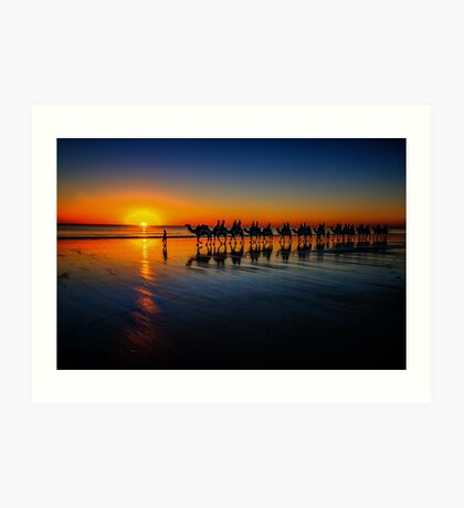 Cable Beach Camels Art Print