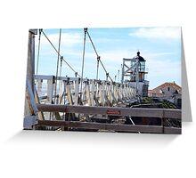 Point Bonita Lighthouse Bridge Greeting Card