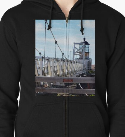 Point Bonita Lighthouse Bridge Zipped Hoodie