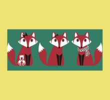 FOX TRIPLETS Kids Tee