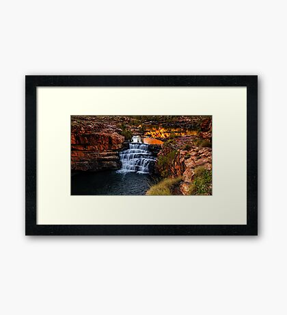 Sunrise at Bell Gorge  Framed Print