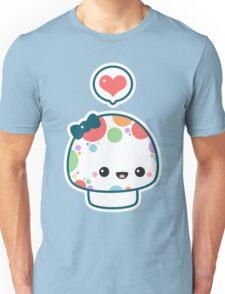 Cute Mushroom with Bow Unisex T-Shirt