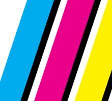 CMYK Stripe Graphic Sticker