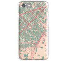 Barcelona Map (Springtime) iPhone Case/Skin