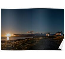 Lighthose cottages at Penmon , Anglesey  Poster