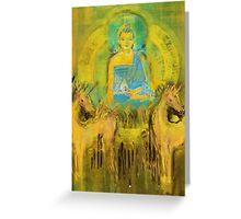 Ratnasambhava and horses Greeting Card