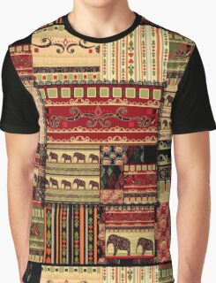 African print with elephants Graphic T-Shirt