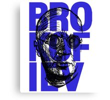 Brokofiev in Blue Canvas Print