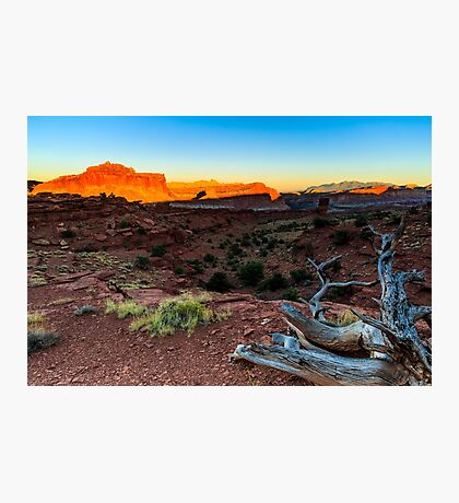 Capitol Reef National Park Sunset Photographic Print