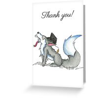 Wolf Grad (Thank You Card) Greeting Card