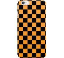 Orange and Black checker Board iPhone Case/Skin