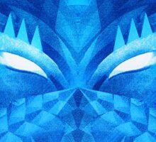 Deep Ice Blue - Sub Zero Transformers Wolf Mask Portait  Sticker