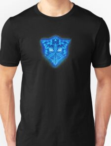 Deep Ice Blue - Sub Zero Transformers Wolf Mask Portait  Unisex T-Shirt