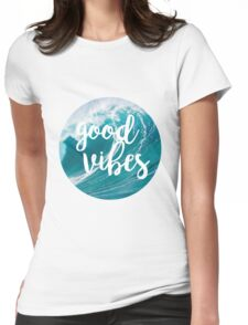 Good Vibes: Waves Womens Fitted T-Shirt